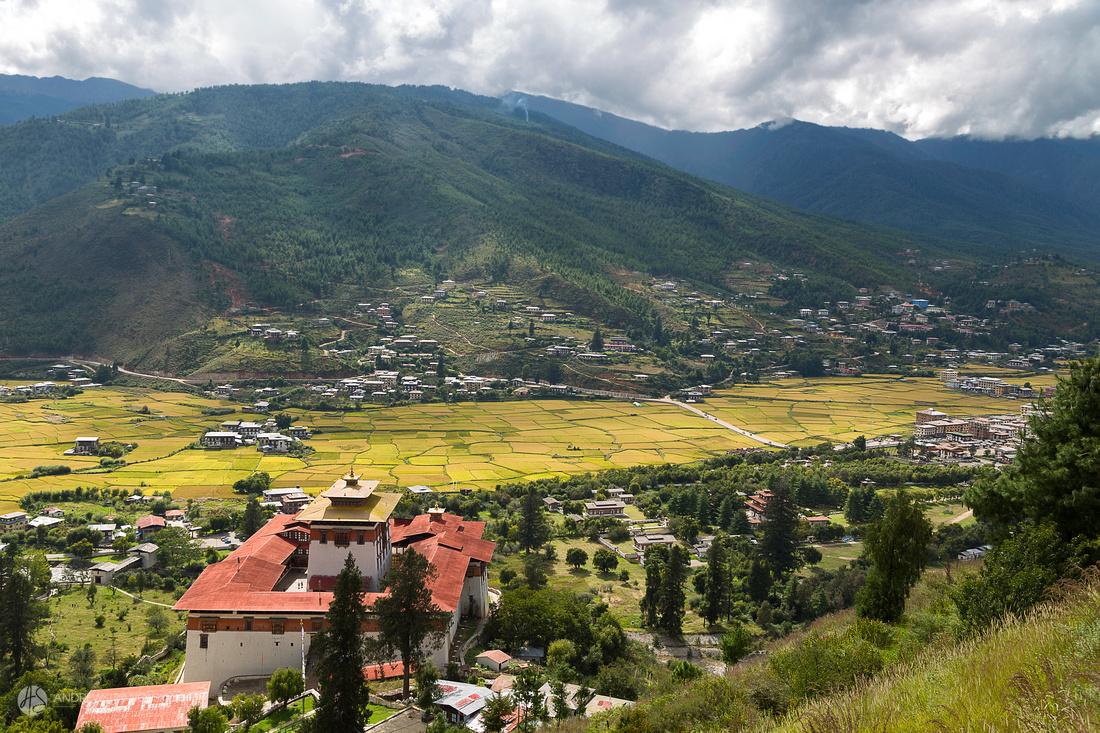 Valley in Paro, Bhutan