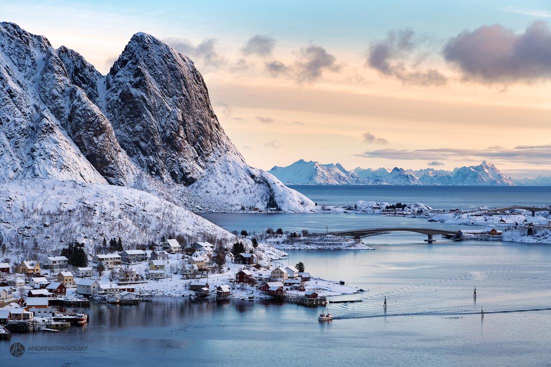 Early mornings in Reine, Lofoten Islands, Norway.