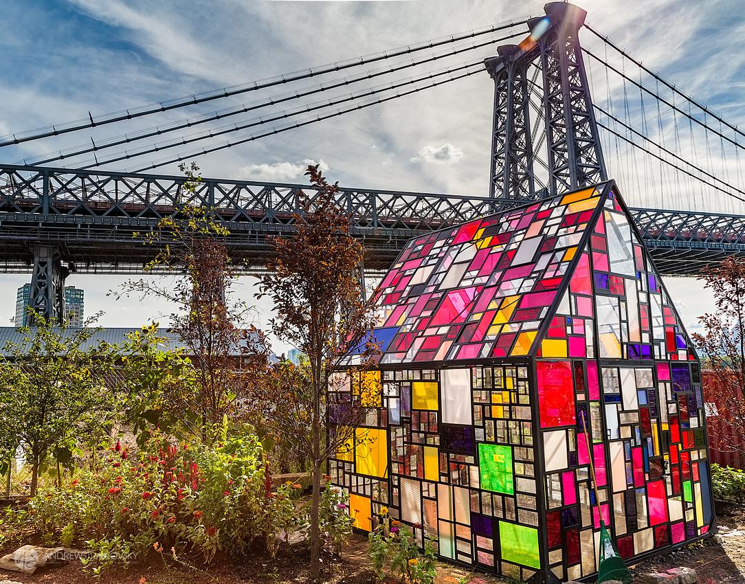 North Brooklyn Farms and the Williamsburg Bridge