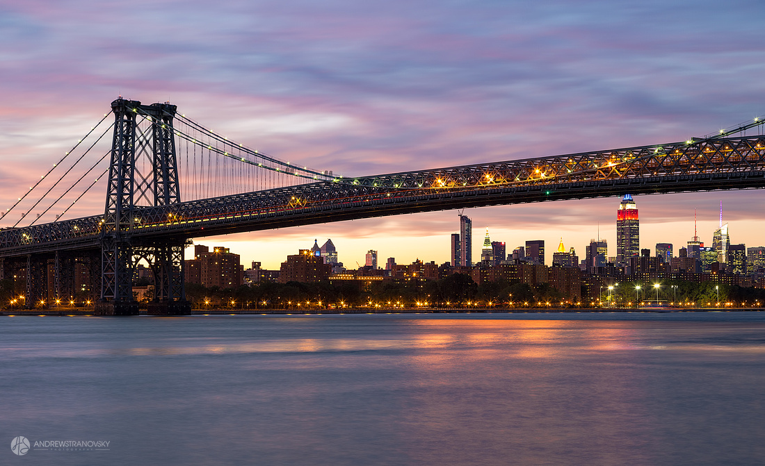 Williamsburg Bridge at Sunset