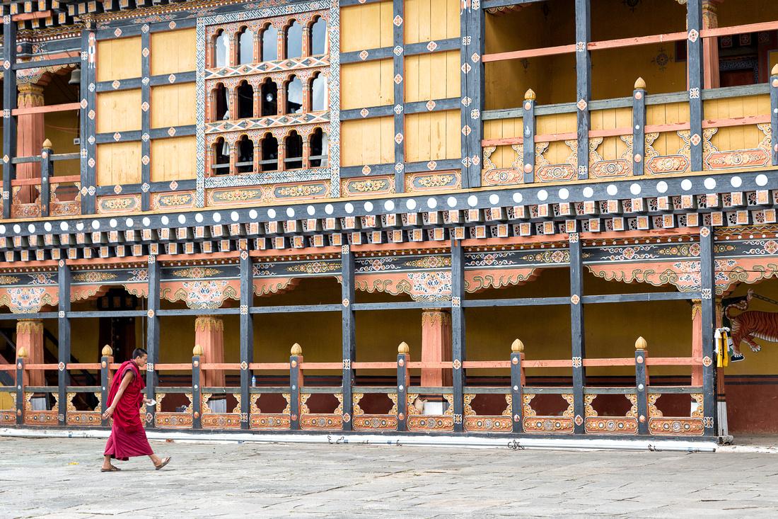 Monk in Rinpung Dzong